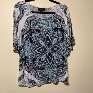 Dana Buchman Xlg shirt sleeve top